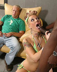 Billy The Cuckold Watches Bree Olson Black Cock