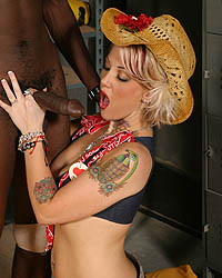Cowgirl Riding The Black Bull Black Cock