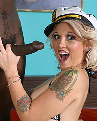 First Mate Cumlicker Black Cock Shemale