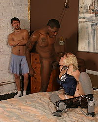Joey and Julias Black Cock Gangbang