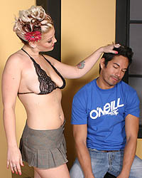 Another Silly Cuckold With John Hot Interracial Sex